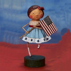 Lori Mitchell Figurine - Little Betsy Ross Figurine - Wooden Duck Shoppe