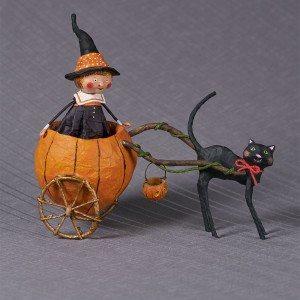 Lori Mitchell Figurine - Piper's Pumpkin Ride Figurine