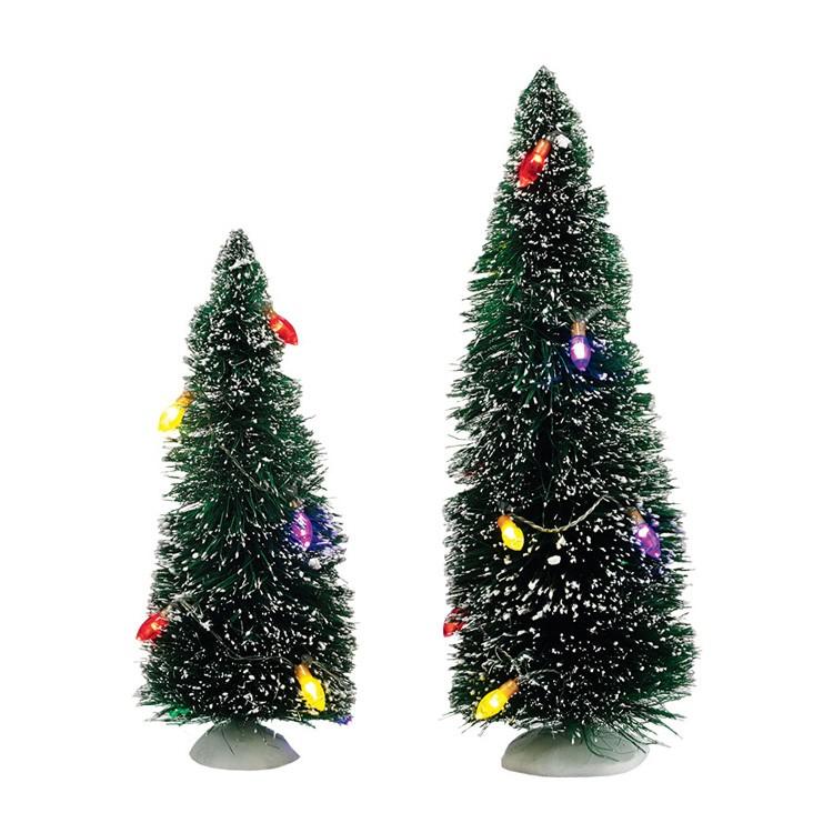 Department 56 Christmas Tree.Christmas Lights Sisals Set Of 2