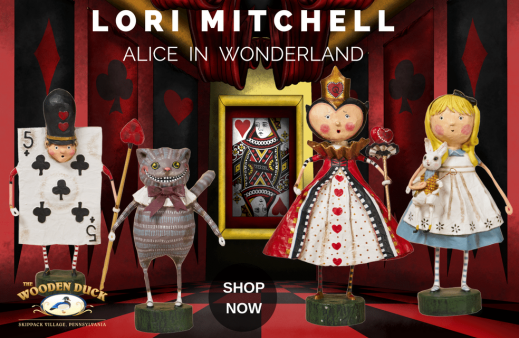 Lori Mitchel - Alice in Wonderland Figurines - Wooden Duck Shoppe