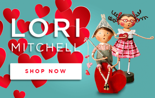 Lori Mitchell Valentines Day Figurine Dolls