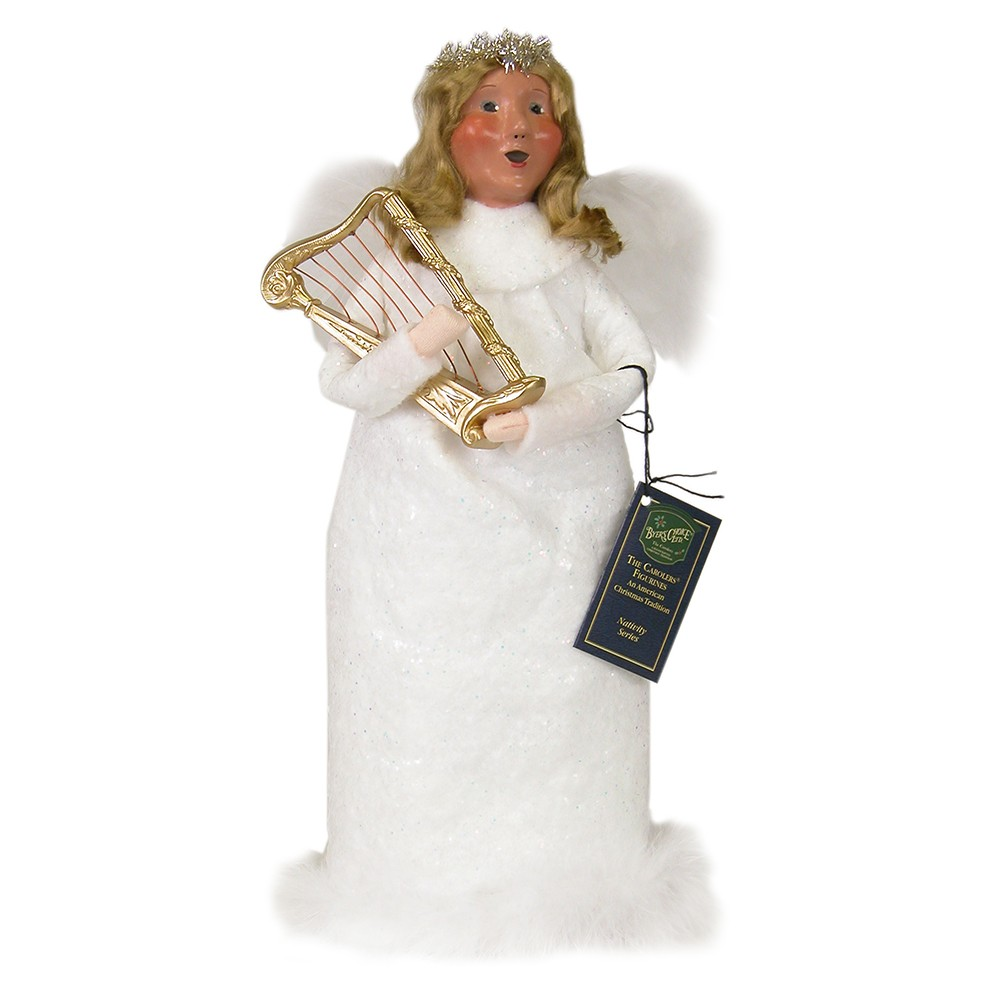byers choice angel woman with harp wooden duck shoppe