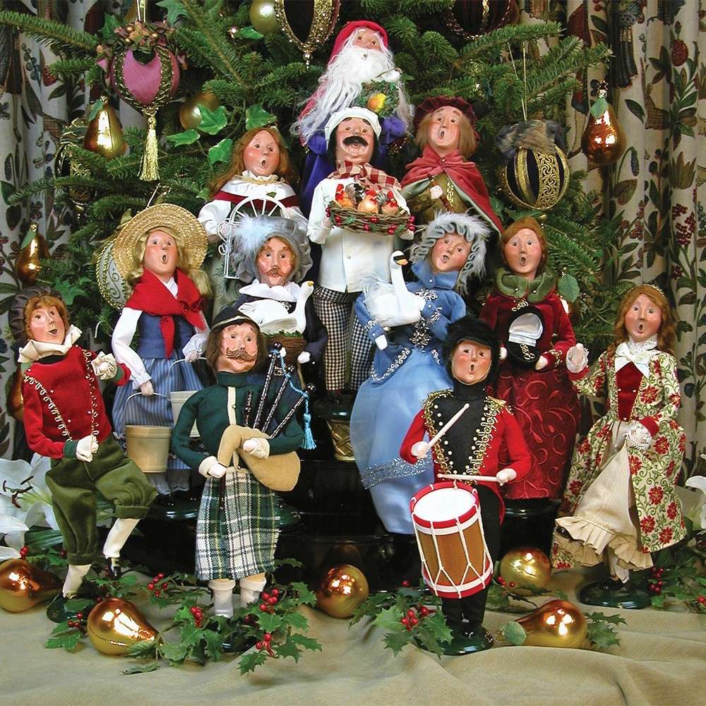 Byers 39 choice carolers wooden duck shoppe for 12 days of christmas decoration theme