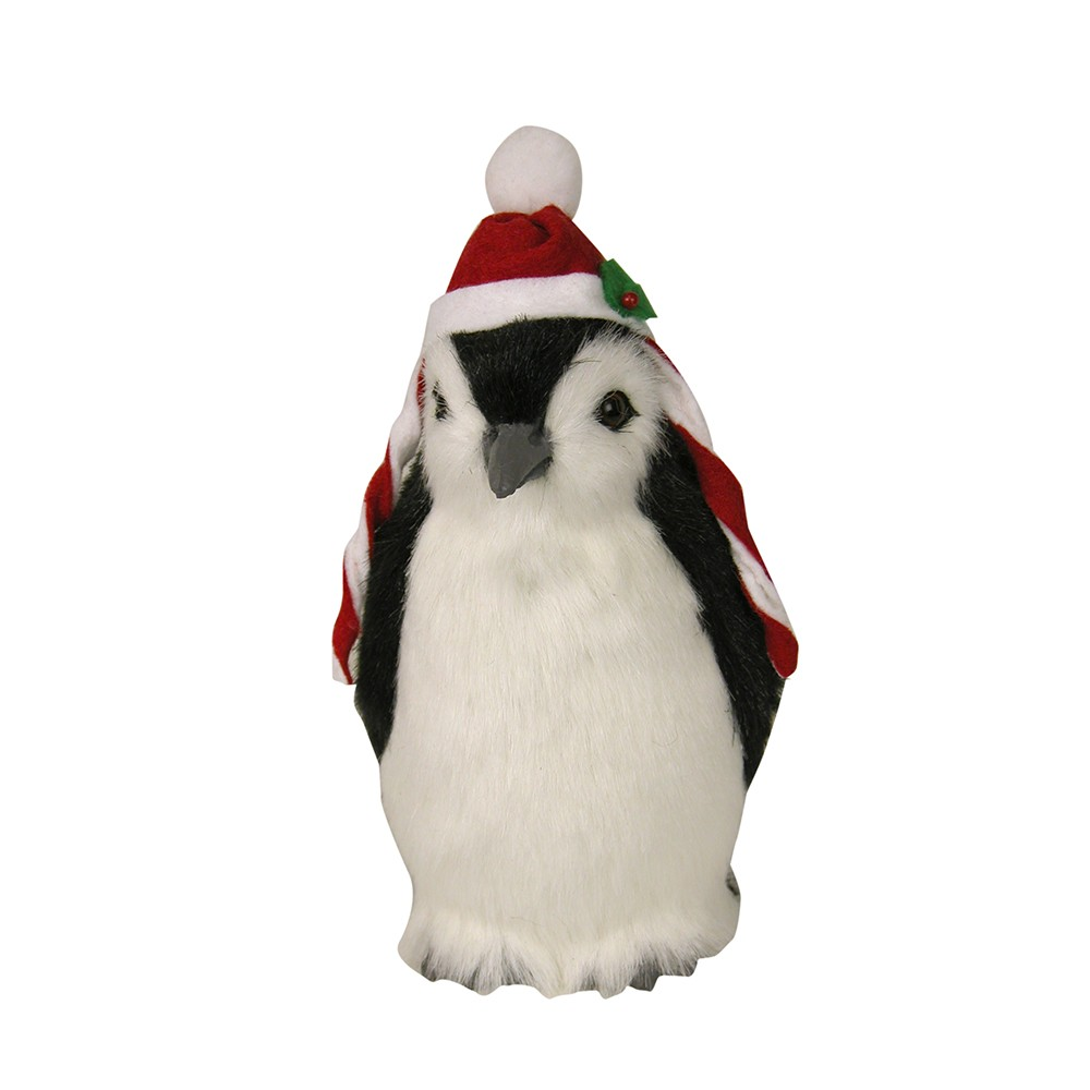 Byers Choice - Penguin with Red Hat and Red/White Strings