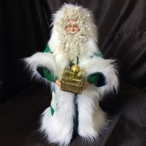 St. Nick's Attic - Green Star Santa with Golden Box