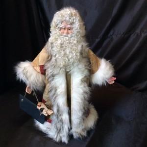 St. Nick's Attic - Civil War Quilt Santa with Chalkboard