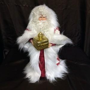 St. Nick's Attic - Lonestar Quilt Santa with Golden Gift Box