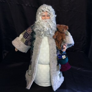 St. Nick's Attic - Country Tan Santa with Stocking