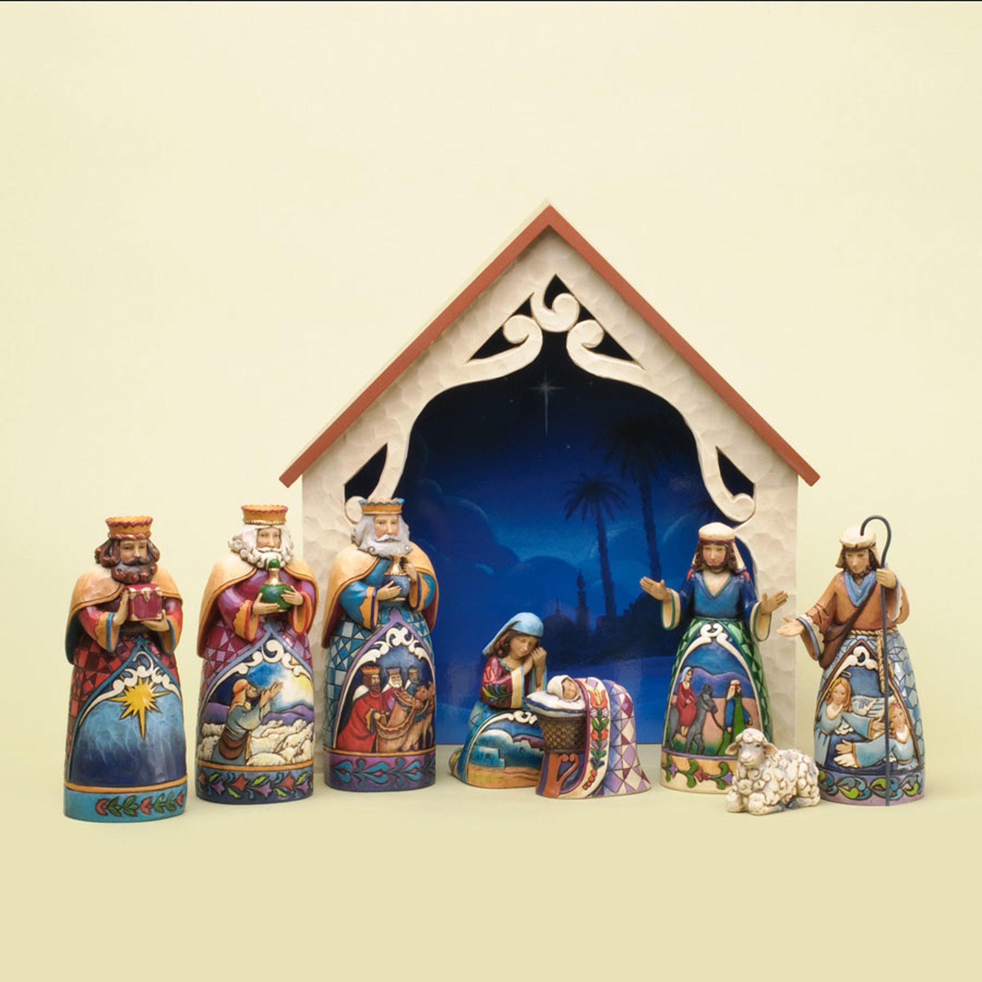 Jim Shore - Deluxe Mini Nativity 9 Piece Set -