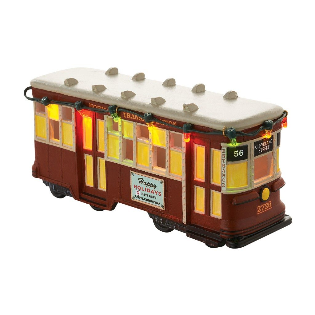 department 56 a christmas story streetcar wooden duck shoppe