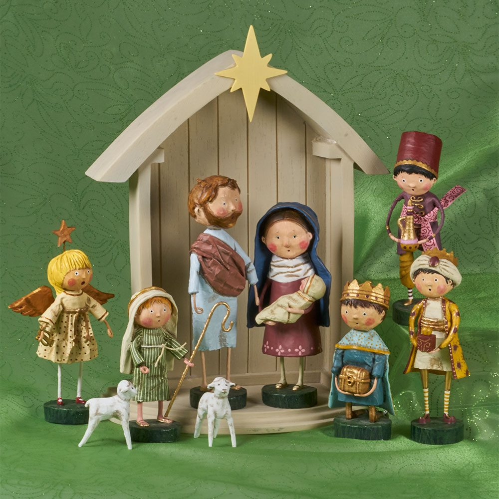 complete nativity set - Wooden Nativity Set