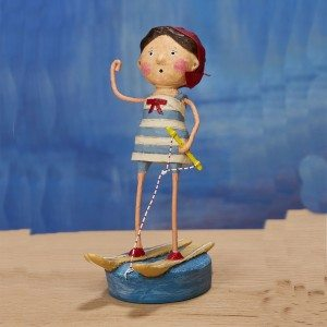 Lori Mitchell Figurine - Ski Babe Figurine - Wooden Duck Shoppe