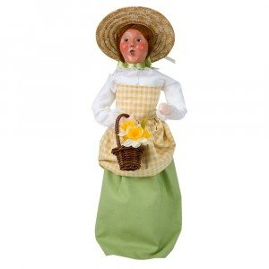 Byers Choice - Woman with Flowers - Wooden Duck Shoppe