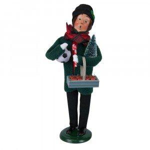 Byers Choice - Gates Man - Green Shopper - Wooden Duck Shoppe