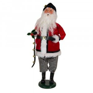Byers Choice - Houndstooth Santa - Wooden Duck Shoppe