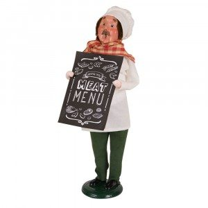 Byers Choice - Butcher with Chalkboard - Wooden Duck Shoppe
