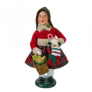 Byers Choice - Girl with Gingerbread - Wooden Duck Shoppe