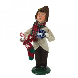 Byers Choice - Boy with Gingerbread - Wooden Duck Shoppe