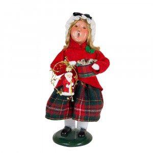 Byers Choice - Glass Ornament Girl - Wooden Duck Shoppe