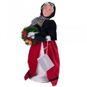 Byers Choice - Colonial Woman Red and Black - Wooden Duck Shoppe