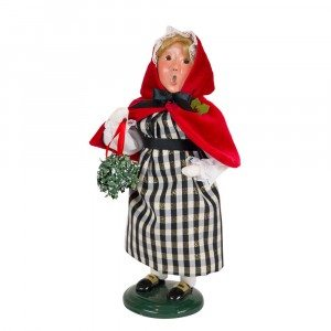 Byers Choice - Colonial Girl Red and Black - Wooden Duck Shoppe