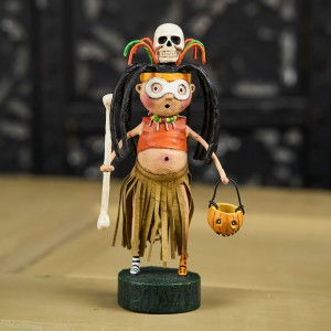 Lori Mitchell Figurine - Witch Doctor Figurine - Wooden Duck Shoppe
