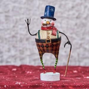 Lori Mitchell Figurine - Good Tidings Snowman Figurine