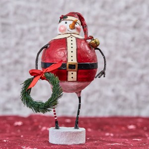 Lori Mitchell Figurine - Jolly Snow Santa Figurine