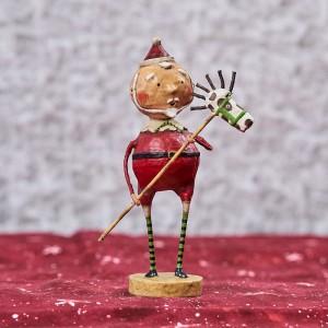 Lori Mitchell Figurine - Horsing Around Santa Figurine