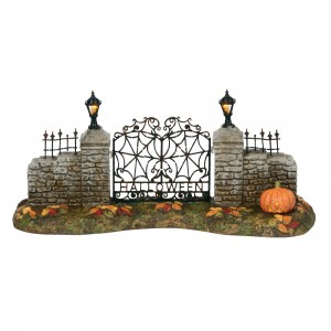 department 56 halloween village gate wooden duck shoppe