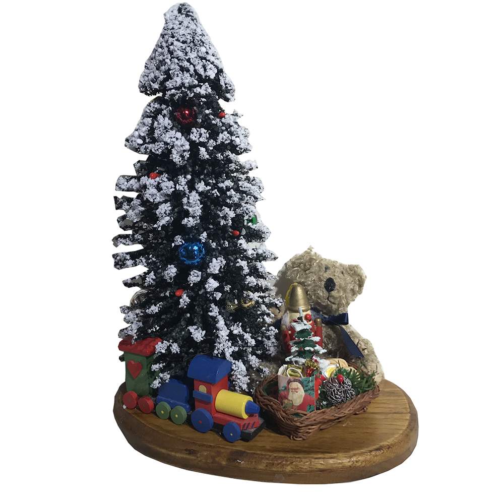 Jbigg S Little Pieces Byers Choice Carolers: Byers Choice – Snow Tree With Toys On Wood Plaque