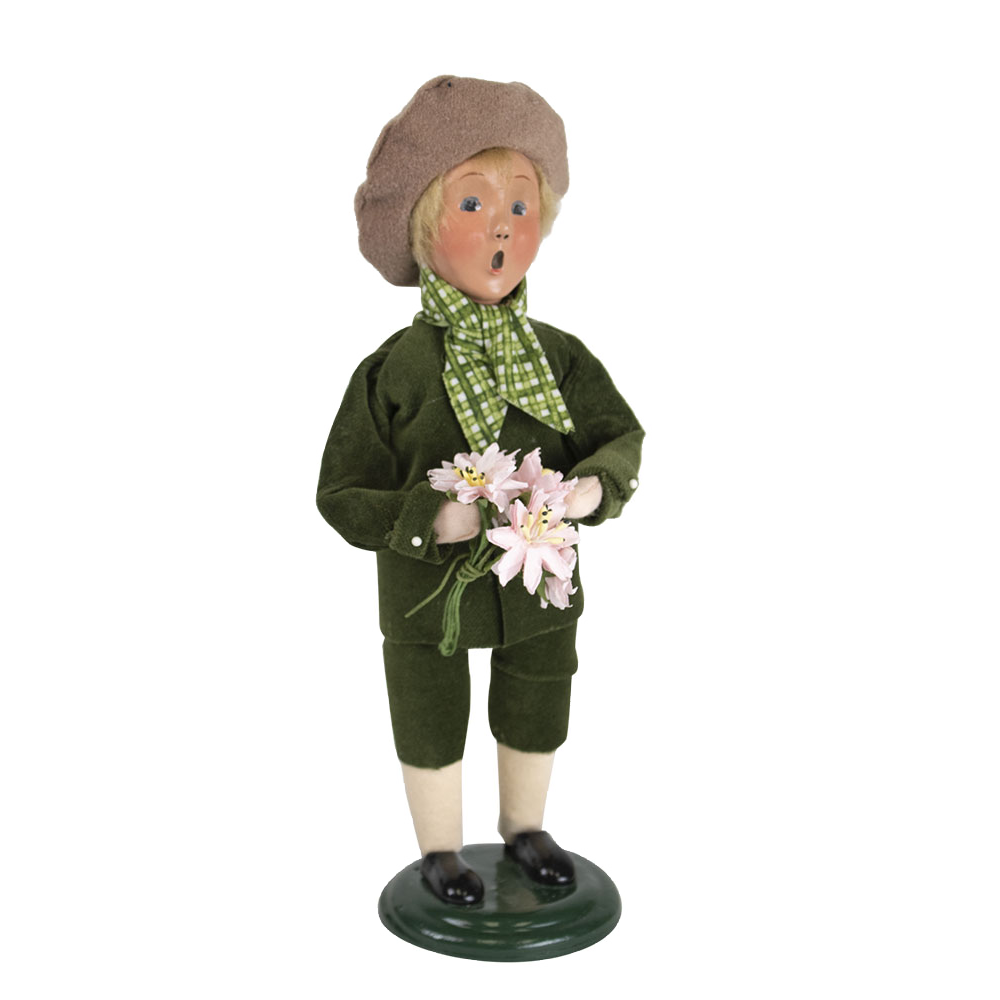 Jbigg S Little Pieces Byers Choice Carolers: Byers Choice – Spring Boy Signed By Joyce Byers