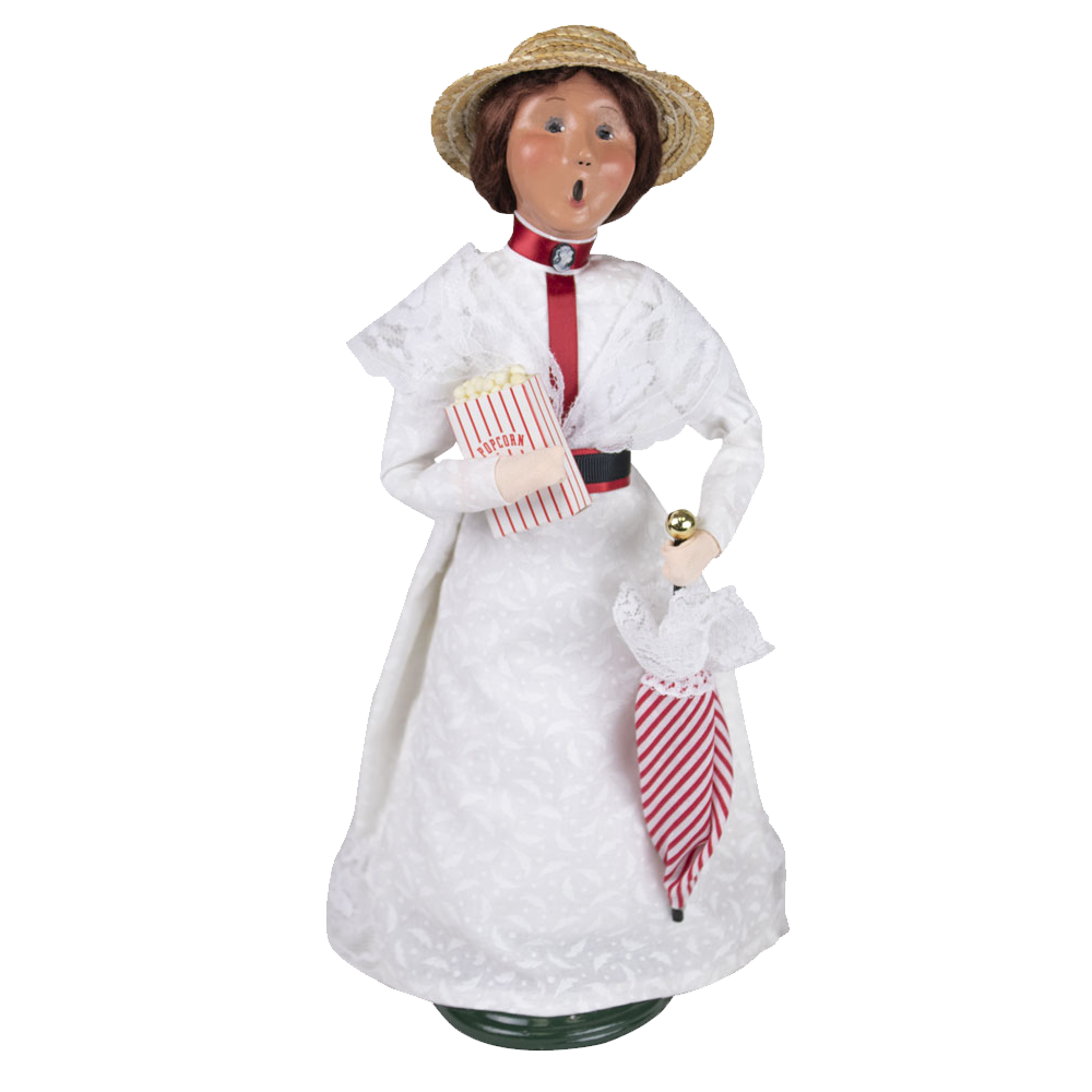 Jbigg S Little Pieces Byers Choice Carolers: Parasol Woman Signed By Joyce Byers